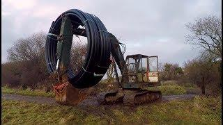 DIY Micro Hydro part 13 Pipe delivery, Digger Cold Start