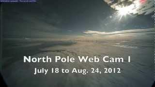 Closeup View of Arctic Ice Melt (North Pole Web Cam)
