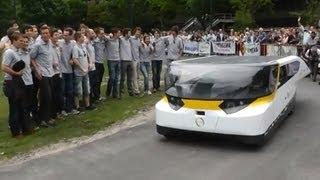 First ride Stella presentation world first solar powered family car from Holland TU/e