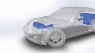 EV Mazda RX8 EV Conversion CAD Flyover