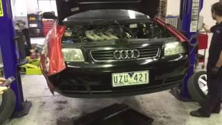 Audi A3 Electric Car Conversion: Engine Removal Timelapse For EV Conversion - EVolution
