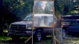 Fresnel lens GIANT BIG DADDY boiling water with solar FRESNELPARABOLIC