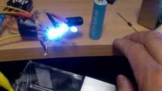 Joule thief dark sensing solar rechargeable night light