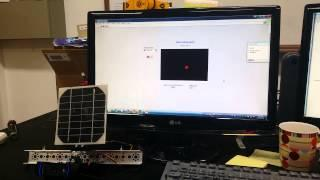 Solar panel tracking system with LabVIEW