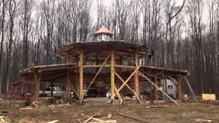 Circular Round Wood Strawbale House