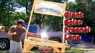 Fresnel Lens Solar Power Foundry Obsidian Farm 3800 ˚ F 2100˚ C Fresnel Optics greenpowerscience