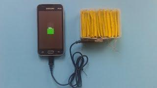 How to Make a Free Energy Emergency Mobile Phone Charger - Salt water battery
