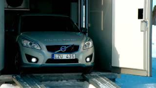 Volvo C30 Electric Car Winter Testing