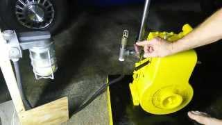 VINTAGE GAS ENGINE ~Briggs & Stratton Model 23 ~Running on a homemade VAPOR CARB!