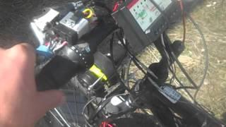 Self charging solar electric bike