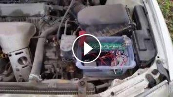 Car battery replaced with a super capacitor and LiFePO4 battery
