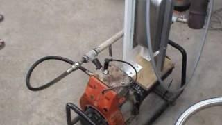 Geet Engine with an IceCream box (Water and Gasoline)