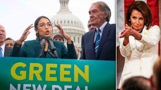 Ocasio-Cortez Unveils Green New Deal, Nancy Pelosi Takes a Dump On It