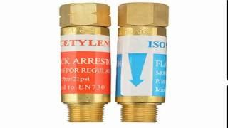 AGPTEK Oxygen Acetylene Flashback Arrestors Set Regulator End 916 18 Thread