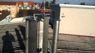 Scheibengenerator an VAWT Windrad - disc generator / alternator