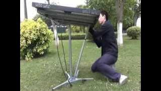 How to install single axis solar tracking system by DIY