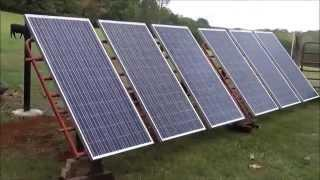 DIY - Solar Panels Meet Cattle Panels