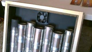 Solar Air Heater DIY - Homemade STEEL CAN Air Heater! - Quickview w/closeups
