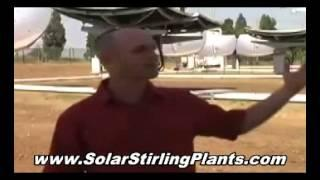 SOLAR STIRLING ELECTRIC GENERATOR - FREE HOME ENERGY