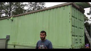Off grid solar install on cargo container home in tropics by Off Grid Contracting plus tour of home
