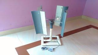 Mini Wind Turbine | Vertical Axis wind Mill | DIY Project| How to make tutorial