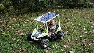 DIY Solar Powered Car + Build session - Power wheels - Dune Racer