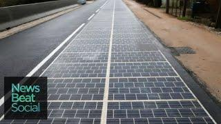 Small Villiage in France Builds First Solar Road