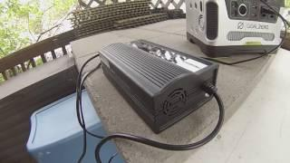 "Bike Battery charging with solar ""pass-thru"" power"