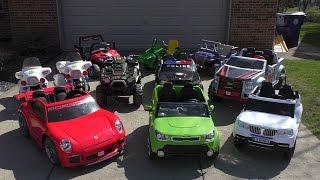 10 Power Wheels Collection, Kids Cars, Electric Vehicles, SporTrax, Kid Trax F150 Porsche 911