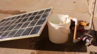 Aquaponics supercapacitor assisted solar powered pump 1