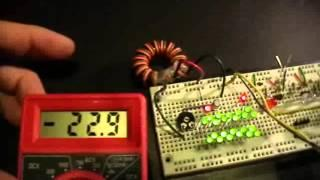 Joule Thief: Basic Circuit, Upgrade to 24 LEDs, 1 to 1 Toroid Winding
