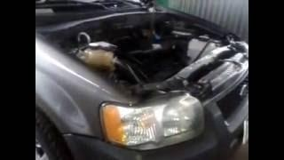 Fuel vaporizer installed on a 2003 Ford Escape 2.0 gasoline engine