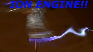 100 000 Volt homemade ion engine!