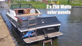 Boat gas cruiser conversion to solar electric with 2 Minnkota E-Drive motors 48V