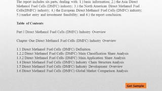 Why Will Global Direct Methanol Fuel Cells (DMFC) Market Continuous Growth ?