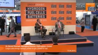 Large scale energy storage, power to gas, power to fuel