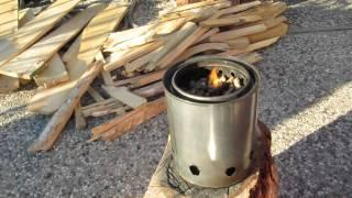 Wood Stove - paint can gasifier.