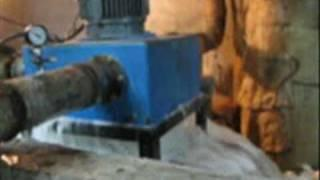 Micro Hydro Turbine using Induction Generator running from waste water Project installed by Dhanesh