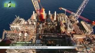 EFN News 5 : Top Stories Oil stocks at all time low but crude inventories are rising