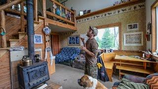 Off The Grid In Alaska ~ Tiny Home Cabin Interior Tour