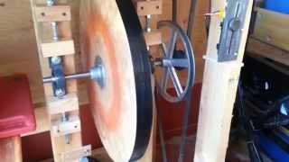Wooden Flywheel Refrigeration Test Bench
