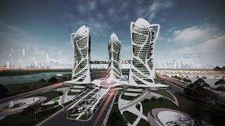 Architecture Thesis Walkthrough I Eco Community Towers I Vertical Farming I Urban Oasis-NIASA Entry