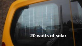 DIY cheap solar  power kit  for your car, camper or van