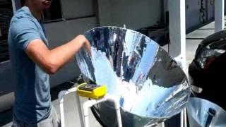 CSULA MadScientist Lab Giant Solar Cone Boiler with Prof. Landsberger