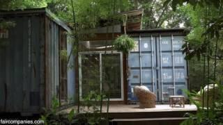 Incredible Salvaged Shipping Container Cabin in Savannah