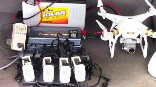 Recharge DJI Phantom 3 Batteries Without an A/C Outlet (In the Field)