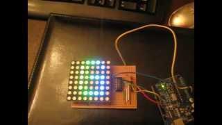 8x8 Arduino powered RGB LED Circuit with PWM