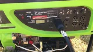 Demonstration of a Propane Backup Generator Charging Nickel Iron Batteries