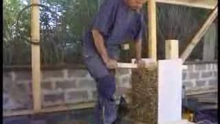 STRAW BALE HOUSES in SWEDEN 1999 Part1