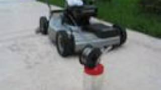 #3 Lawn Mower Running on Alcohol Vapors